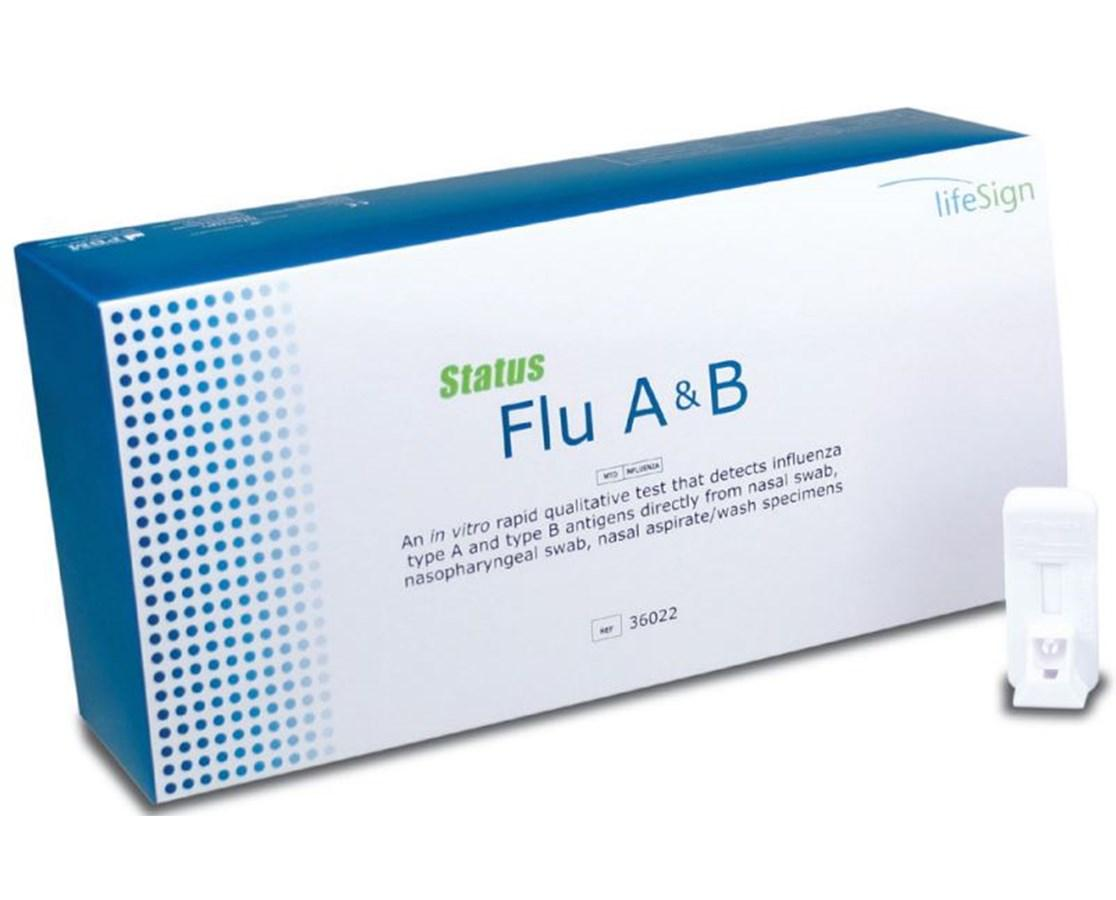 Life sign Status Flu Test Rapid Flu Test A +B Test Influenza A+ B Rapid Test Flu