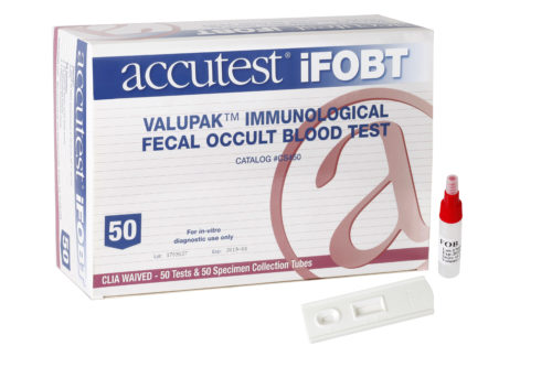 Accutest ValuPak CLIA Waived iFOBT Test